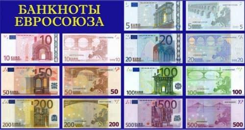 Евро - как выглядят банкноты и монеты самой молодой валюты мира