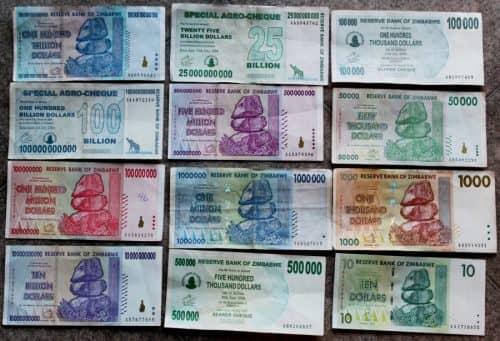 Самая дешёвая валюта мира - зимбабвийский доллар