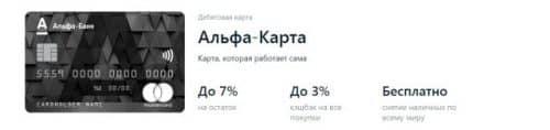 Кэшбэк от Альфа Банка дебетовая