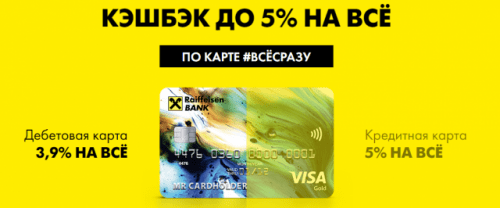 Кредитная карта все сразу райффайзенбанк условия 2