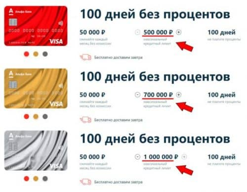 Виза Голд Альфа Банк кредитная карта