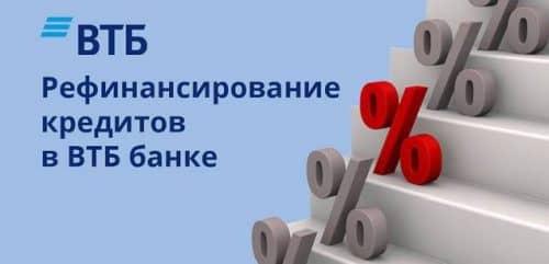 Рефинансирование ВТБ 24 условия