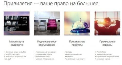 Услуга консьерж сервис ВТБ банка