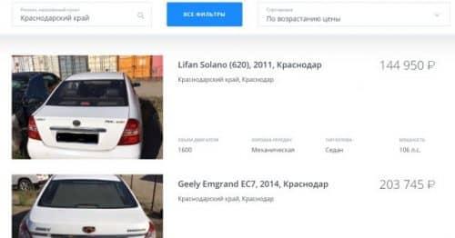 ВТБ залоговые авто поиск